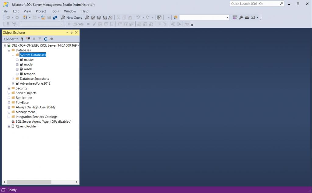 cài đặt môi trường SQL Server