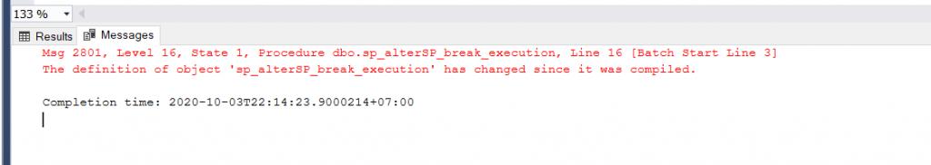 stored procedure bị lỗi
