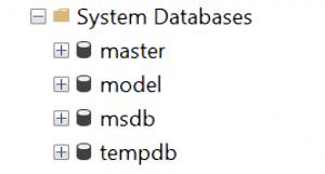 Read more about the article Tìm hiểu các cơ sở dữ liệu hệ thống (system databases)