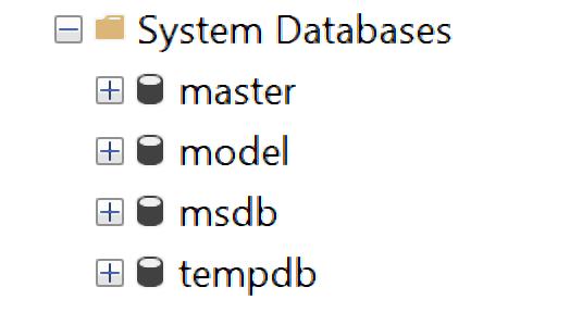 system databases, cơ sở dữ liệu hệ thống